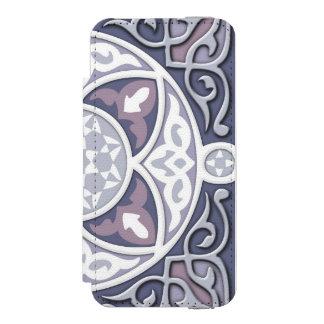 4 sentidos - prata & lavanda capa carteira incipio watson™ para iPhone 5