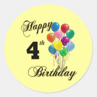 4ns presentes de aniversário e roupa felizes do adesivo redondo