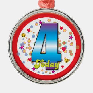 4o Aniversário hoje v2 Enfeites Para Arvore De Natal