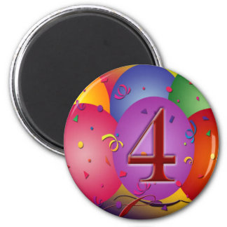 4o Balões da festa de aniversário Imã De Refrigerador