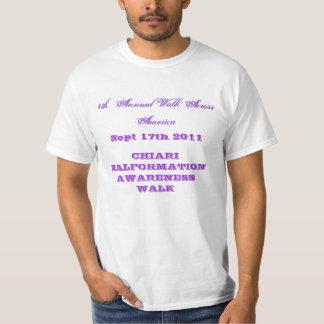 4o Caminhada anual através de América Tshirts