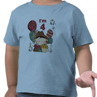 4o Camiseta e presentes do vaqueiro do aniversário