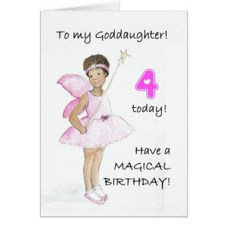 4o Cartão de aniversário para um Goddaughter