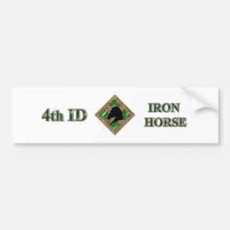 4o Cavalo de ferro da identificação Adesivo Para Carro