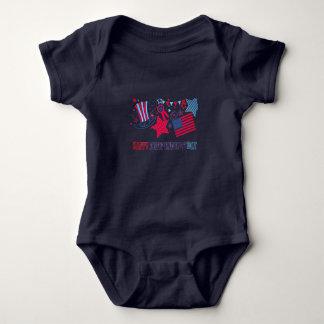 4o da camisa do bebê de julho