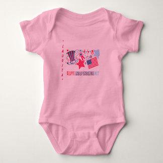 4o da camisa feita sob encomenda do bebê de julho