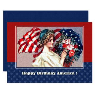 4o de cartões lisos do design patriótico do