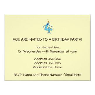 4o Desenhos animados do aniversário Convites Personalizados