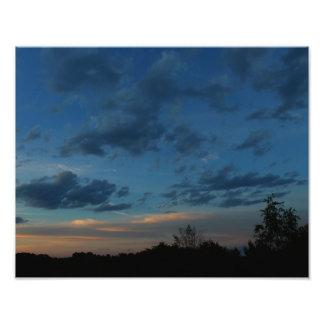 4o do céu 2016 do por do sol de julho impressão de foto
