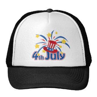 4o do chapéu do Dia da Independência de julho Boné