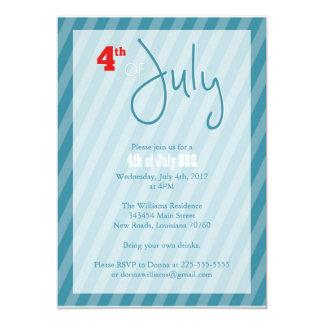 4o do CHURRASCO de julho Convite 12.7 X 17.78cm