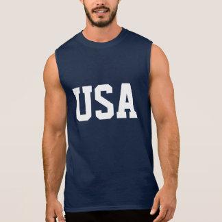 4o do roupa sem mangas da camisa | EUA de julho