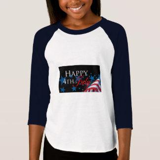 4o feliz da camisa das meninas de julho