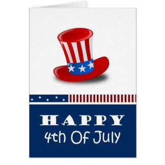 4o feliz de cartões de julho