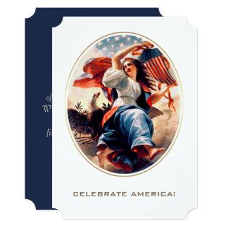 4o feliz de cartões lisos customizáveis da arte de convite 12.7 x 17.78cm