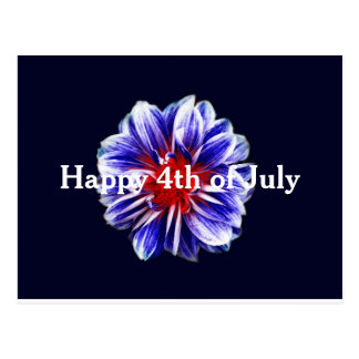 4o feliz do cartão da flor de julho
