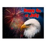 4o feliz do cartão do 1º de julho cartão postal