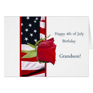 4o feliz do neto cor-de-rosa do aniversário de jul cartão comemorativo