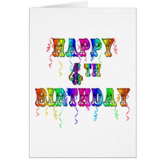 4o pia batismal feliz do circo do aniversário cartão