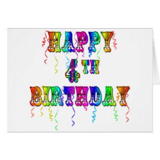 4o pia batismal feliz do circo do aniversário cartoes