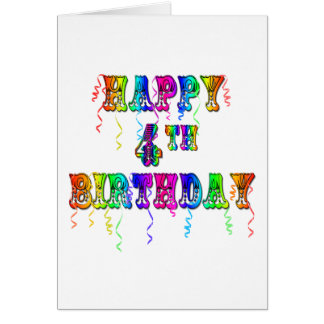 4o pia batismal feliz do circo do aniversário cartão comemorativo
