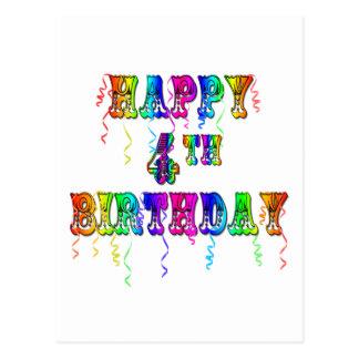 4o pia batismal feliz do circo do aniversário cartão postal