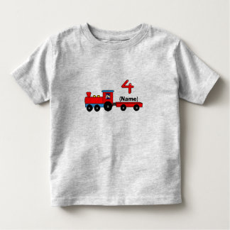 4o T-shirt personalizado aniversário do trem Camiseta Infantil