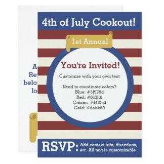 4o tradicional do convite de julho