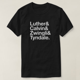 500th Camisa de Luther Calvin da reforma do