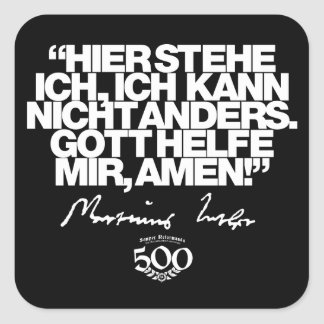 500th Etiqueta das citações de Luther da reforma