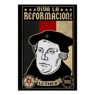 500th Poster de Luther da reforma do aniversário