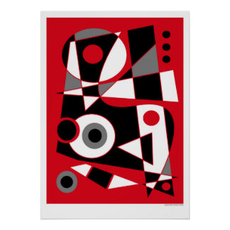 #505 abstrato pôster