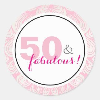 50 & 50th etiquetas fabulosas do aniversário