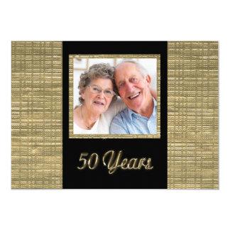 50 anos de convite do aniversário com inserção da