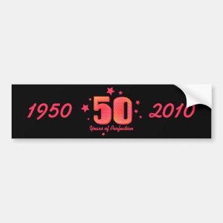 50 anos de envoltório da garrafa de água da perfei adesivo para carro