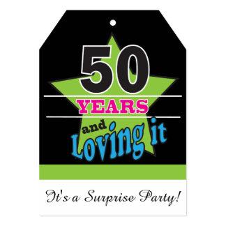 50 anos e amor dele aniversário de   50th convite 12.7 x 17.78cm