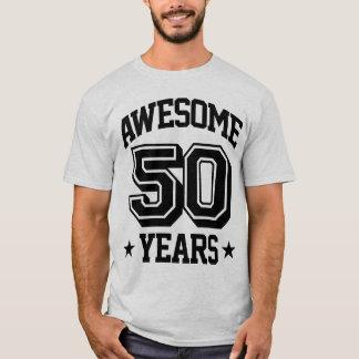 50 anos impressionantes camiseta