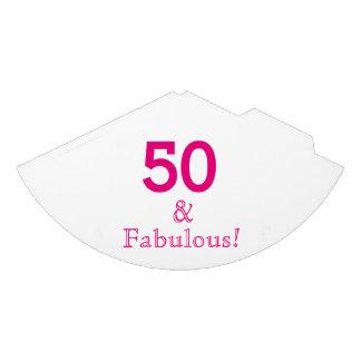 50 & chapéus de papel fabulosos do partido