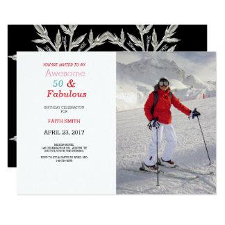 50 & convite de aniversário fabuloso da foto 50th