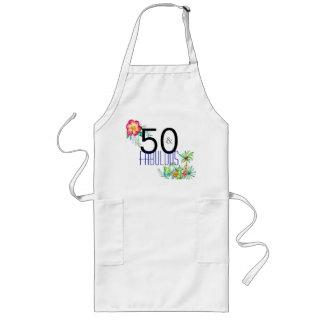 50 e 50th aniversário tropical fabuloso avental longo