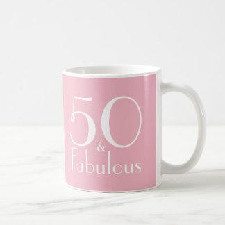 50 e 50th caneca fabulosa dos presentes de