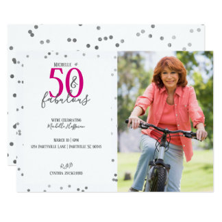 50 e 50th convites de festas de aniversários