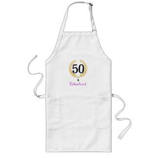 50 e avental fabuloso da festa de aniversário
