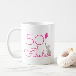 50 e caneca do presente de aniversário dos amantes