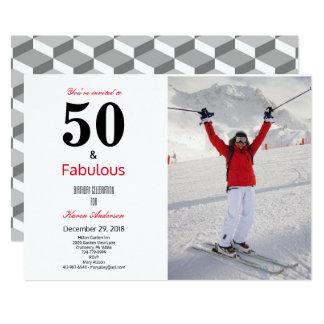 50 e convite fabuloso da celebração do aniversário