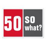 50 e então e? convite 12.7 x 17.78cm