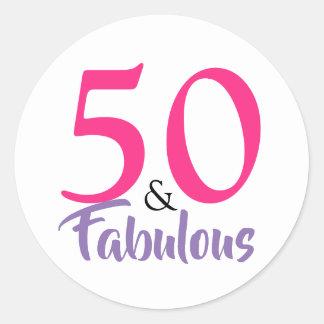 """""""50 e etiqueta do aniversário"""" do na moda fabuloso"""