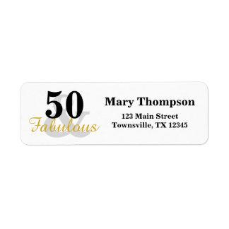 50 e etiquetas de endereço do remetente fabulosas