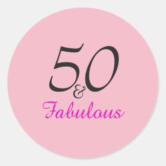 50 e etiquetas fabulosas   do aniversário