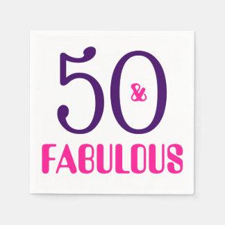 50 e guardanapo de papel da 50th festa de
